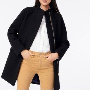 NWT J.Crew Black cocoon coat, size 4P